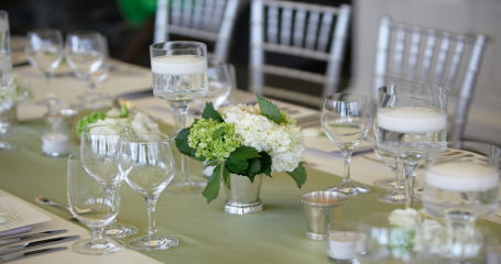 Table Linen and Runner Setting
