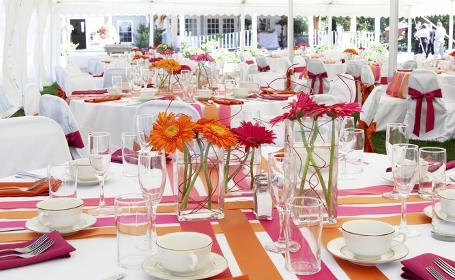 Party Marquee Table Decoration