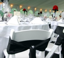 Black Chair Sashes