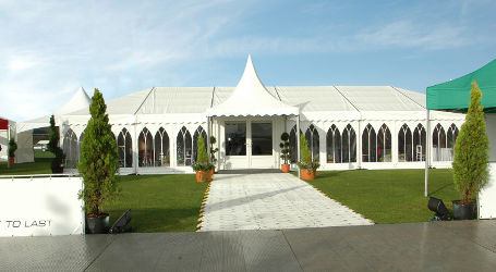 Corporate Marquee Event on grass with walkway