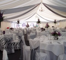 Marquee Decoration with Silver Drapes