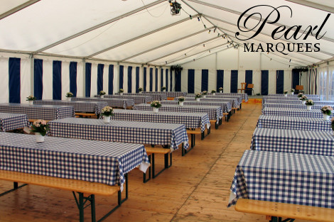 Blue Chequered Marquee Decoration Ideas Corporate Event Ideas