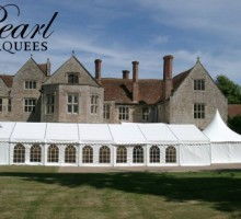 Marquee Hire with Castle Backdrop