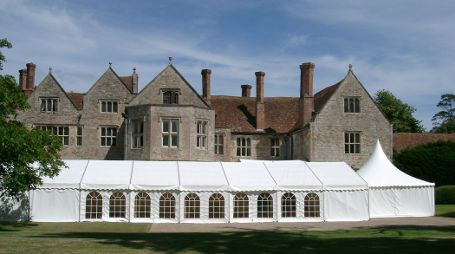 Wedding Marquee with Large Stately Home in background