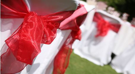 Chair Bow Red